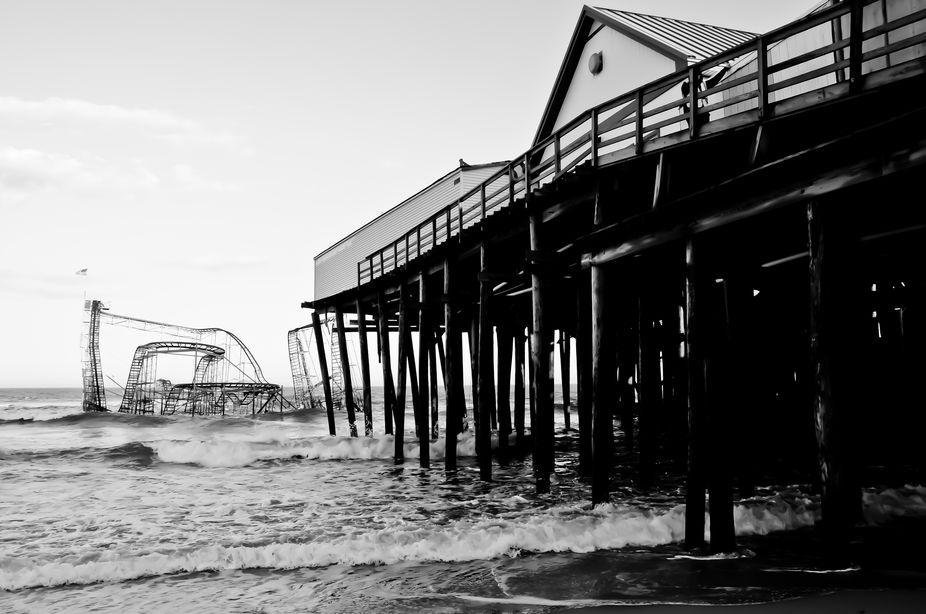 Casino pier remodeled by Sandy