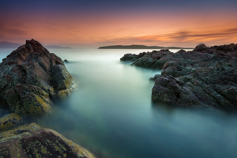 Long exposure sunset from Portencross, Ayrshire, Scotland