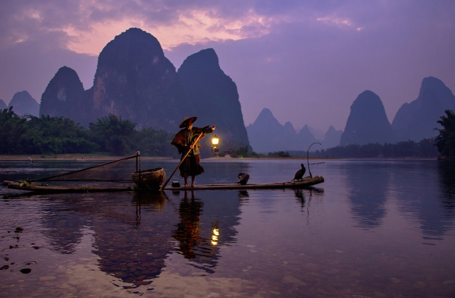 The Ancient Tradition of Fishing With Cormorants on China\'s River Li in Xinping village