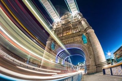 Light Trails - Tower Bridge, London