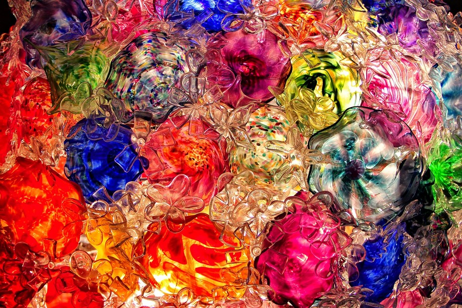 glass flower collage