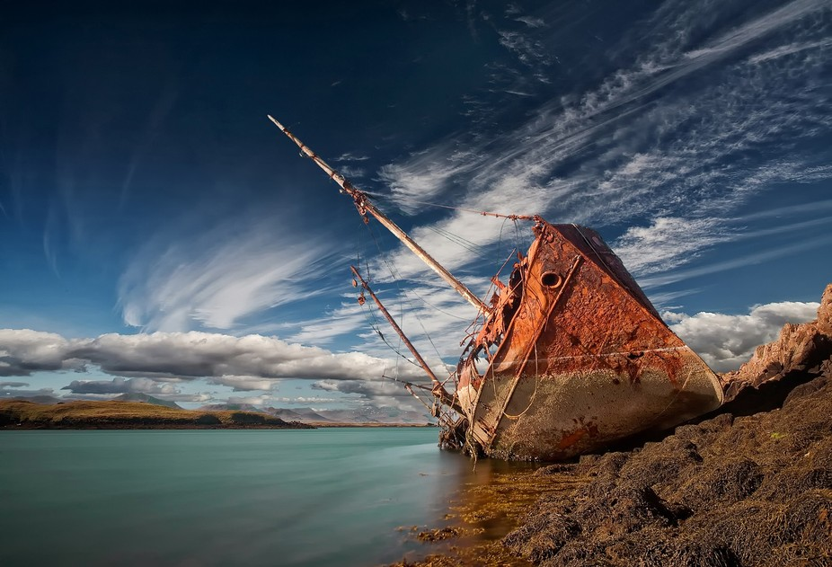 This old wreck is very photogenic and is one of my favorite here in Iceland.  It is located at ve...