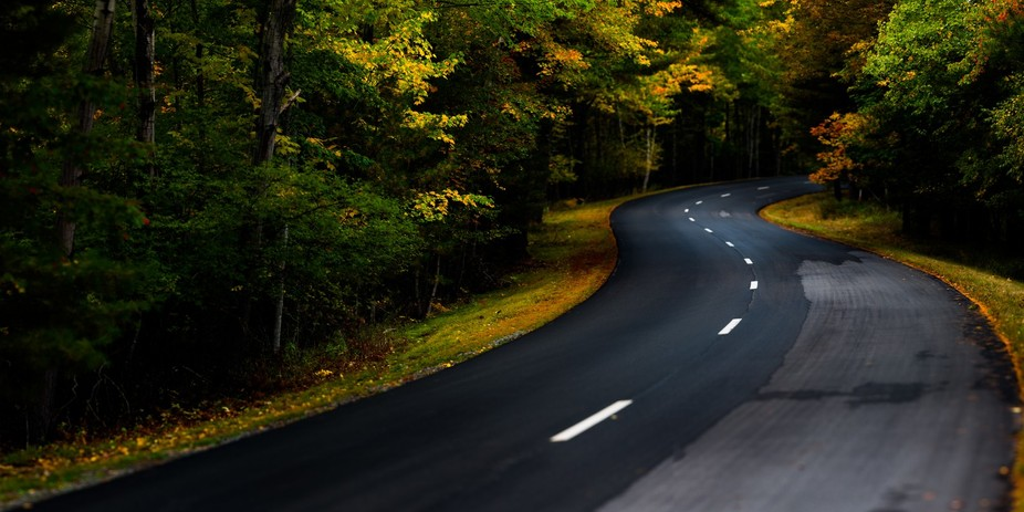 September 30, 2014, 5:52 PM  This is a crop of a panorama I shot of the Park Loop Road just outsi...