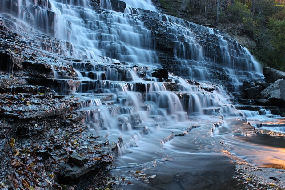 Albion Falls in Hamilton, Ontario Canada.  Hamilton is known as the city of waterfalls, and has m...