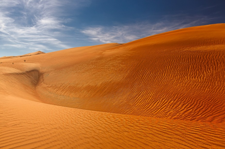in oman in the wahiba sands can see really nice untouched dunes