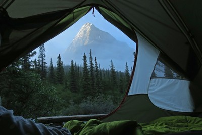 Mount Robson Tent View