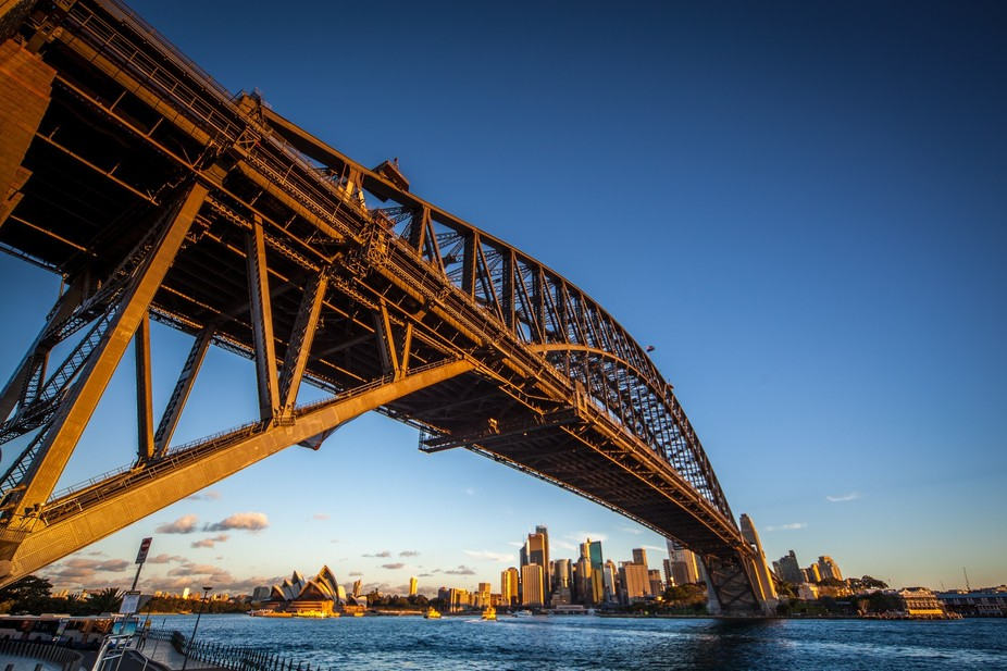Looking for a new angle on a very well photographed bridge Sydney Australia.