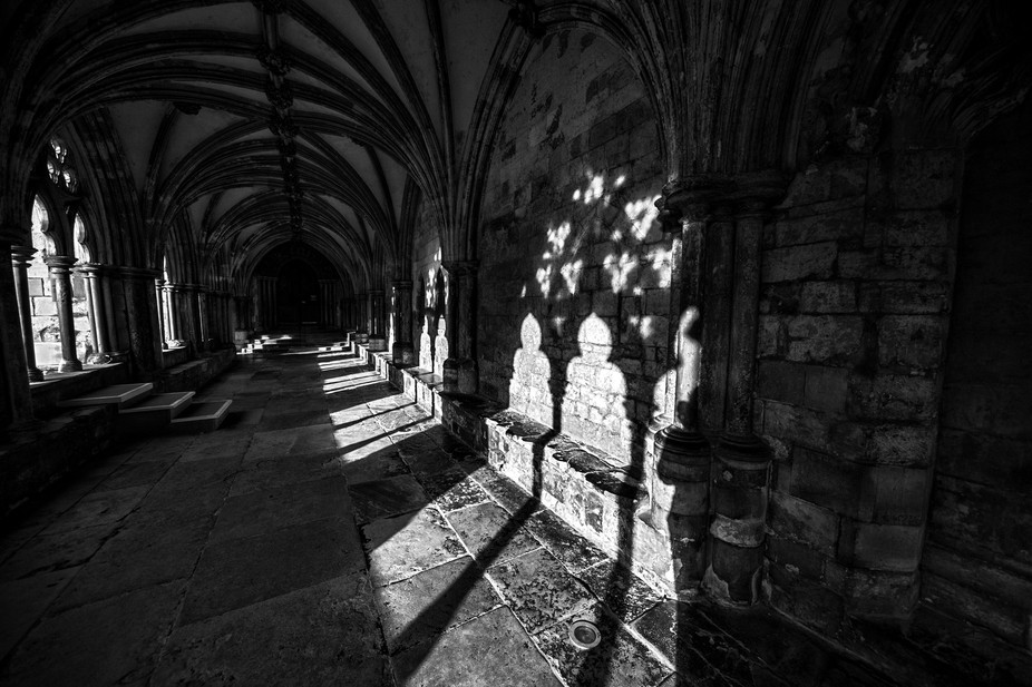 Norwich Cathedral cloisters.  I always loved sitting here as a child.