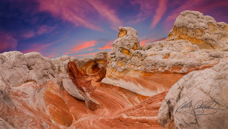 This formation is part of White Pocket, a remote and amazing area near the border of Arizona and ...