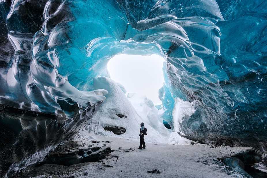 One of the most amazing places I visited in Iceland was this ice cave in the Vatnajökull Glacier...
