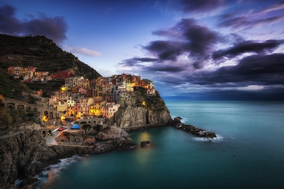 Beautiful village of Manarola in Cinque Terre, Italy. Taken last winter break. Was lucky to have...