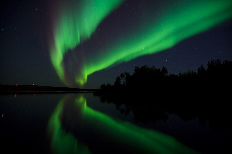 The late fall and early spring in northern Alberta Canada always provide impressive northern lights.