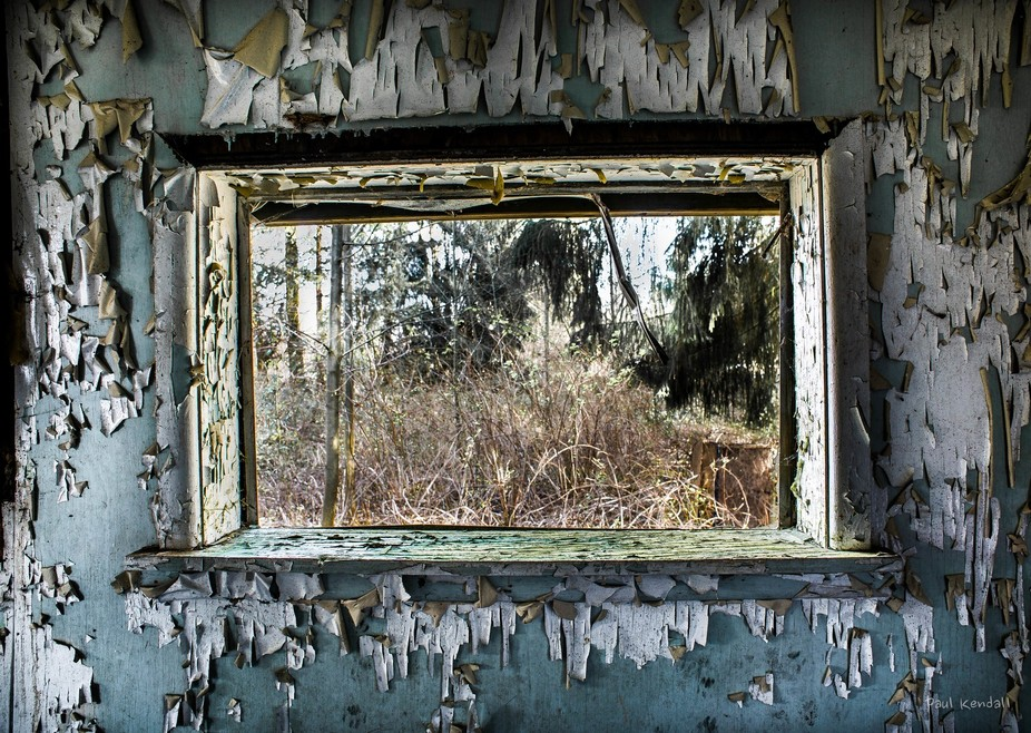 A window from an old abandoned house