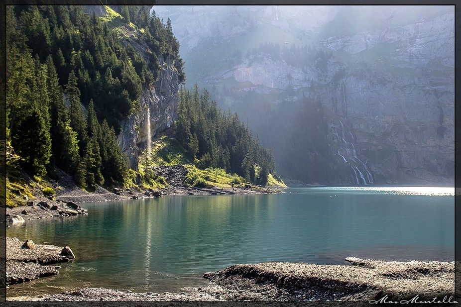 On the top of the Alps, the Oeschinen Lake, a jewel where time seems freezed! (Switzerland - Europe)