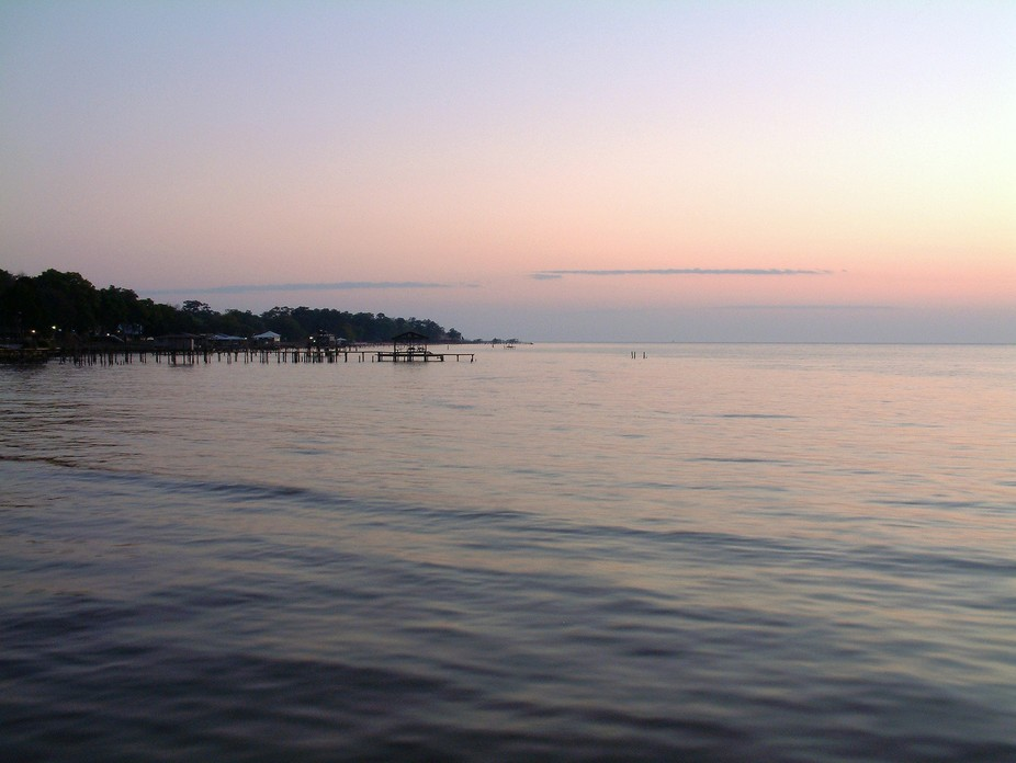 East side of the Mobile Bay, 10 minutes after sunset