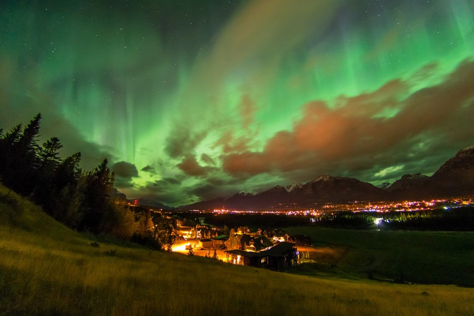 Aurora show over Canmore
