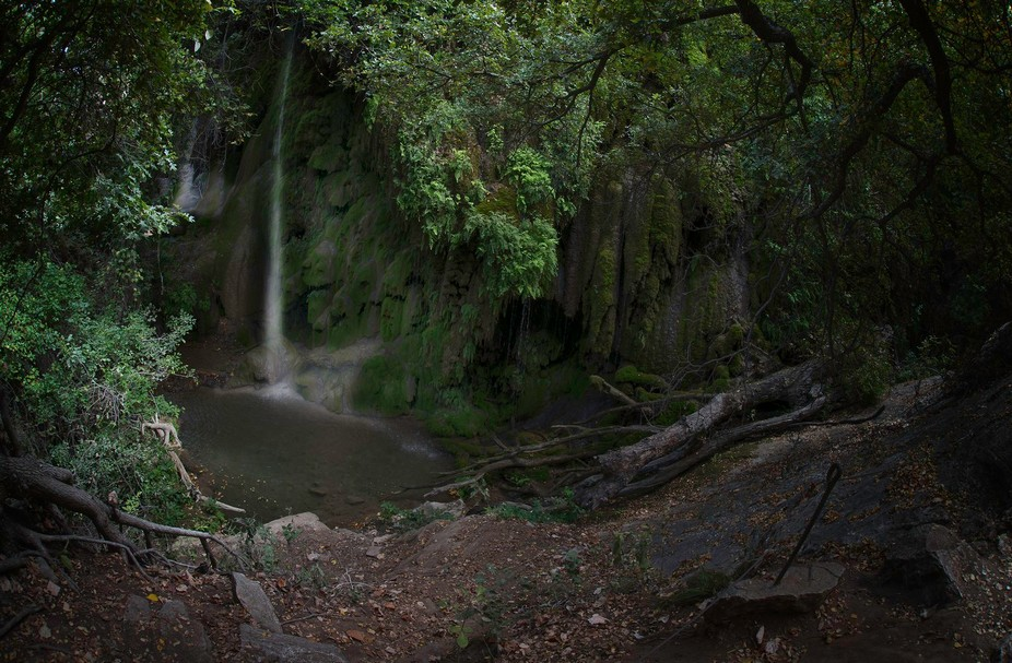 Gorman Falls at Colorado Bend State Park in Bend, Texas