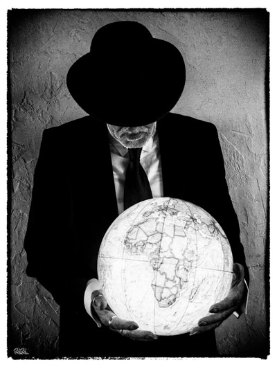 Man with the world in his hands