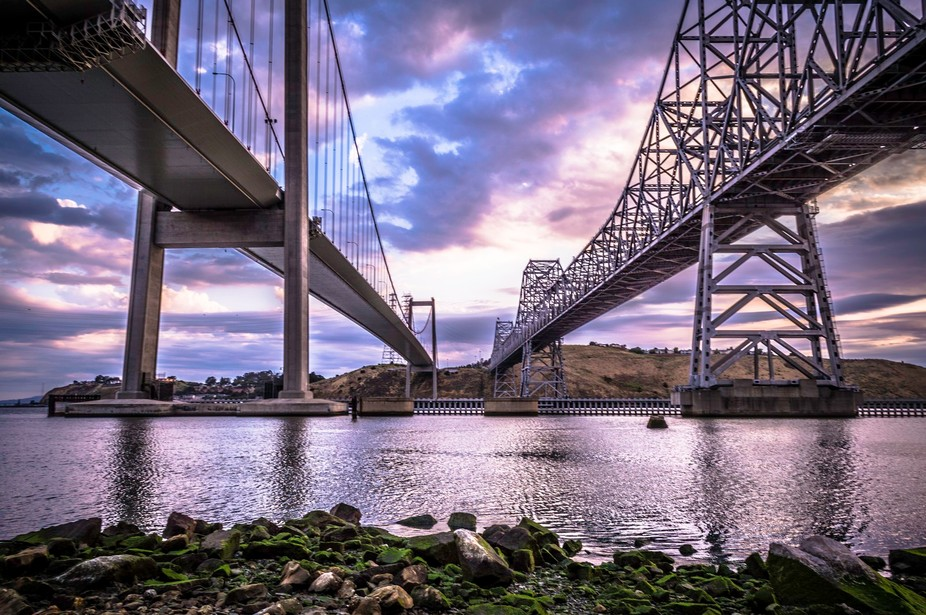 One of my best shots from under the Carquinez Bridges on my first day shooting in Crockett, CA.