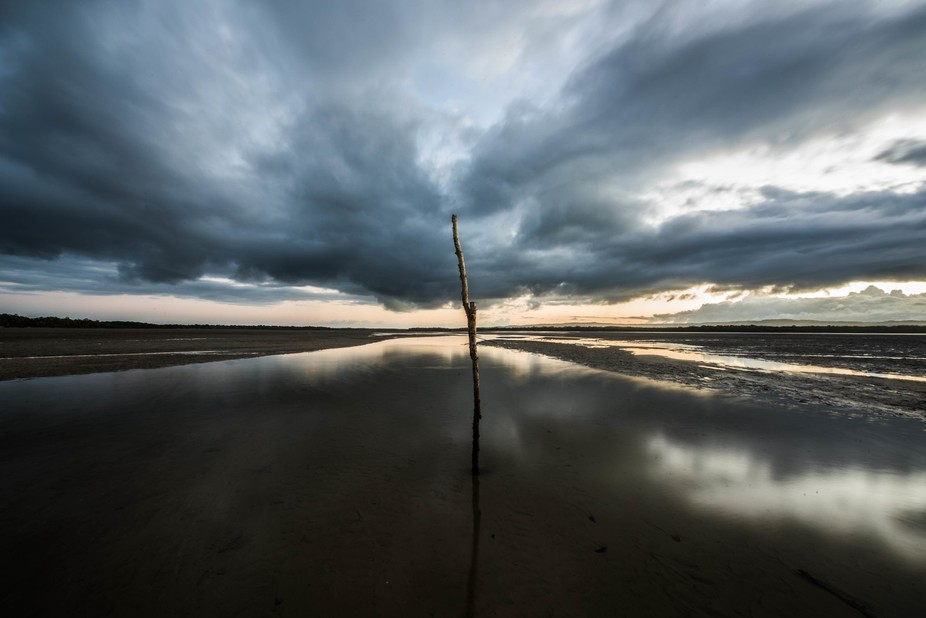 this is a home made shipping channel post. at high tide where im standing for this shot is about ...