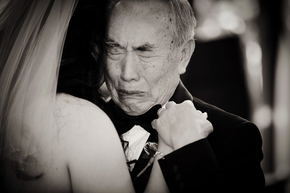 the father-daughter dance at a wedding