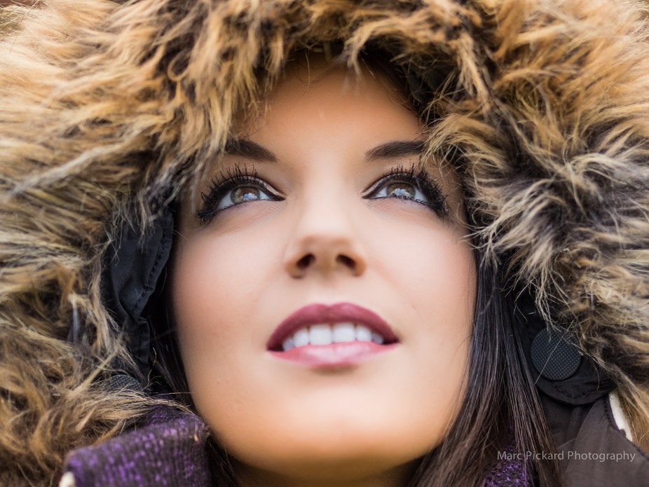 This was a shot taken in the winter when I was practicing portrait poses with my beautiful partne...