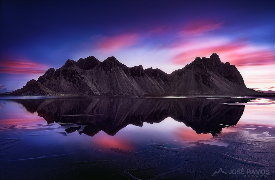"""""""Reverence""""   The gorgeous Vestrahorn mountains in Iceland, during sunrise, aft..."""