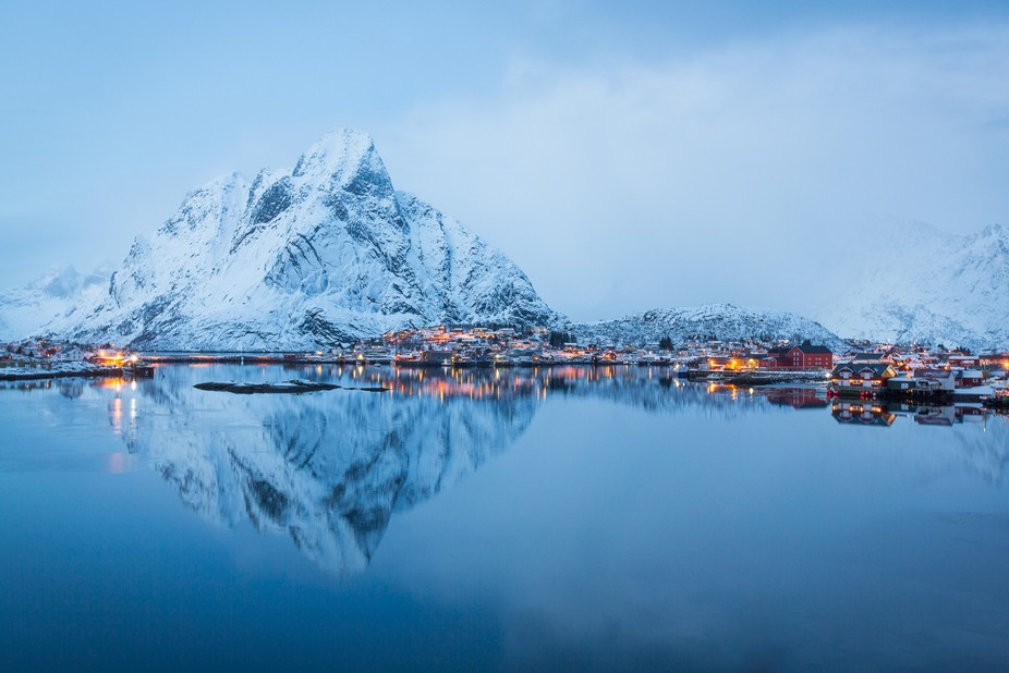 A breathtaking view of Reine, Lofoten islands, Norway