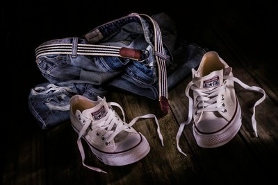 White Shoes & Jeans