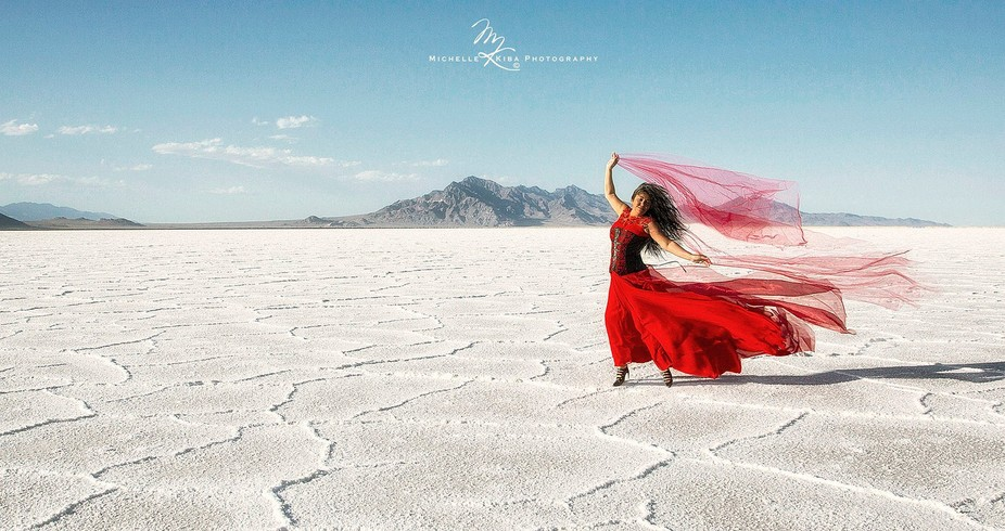 During the long drove through Utah, I stopped at the Bonneville Salt Flats for a fun shoot about ...