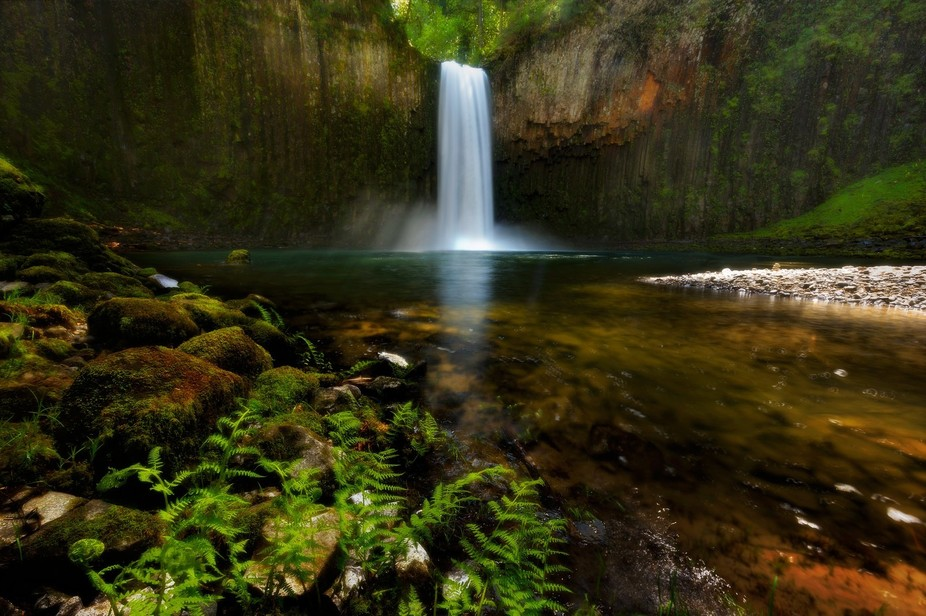 Had a chance to visit this wonderful secluded waterfall in spring, when water flow was at peak!