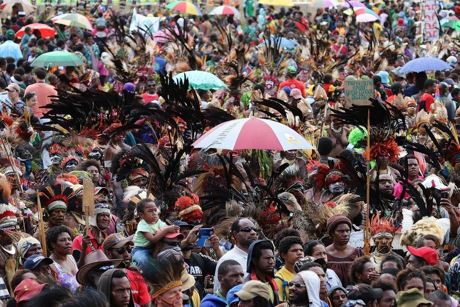 Crowd at Goroka Show PNG taken from the stage.