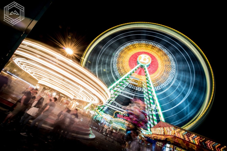 Spinning at the fairground