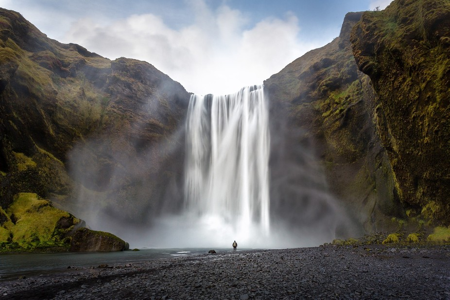 The mighty Skogafoss waterfall, found on the south coast of Iceland. I have used my self to creat...