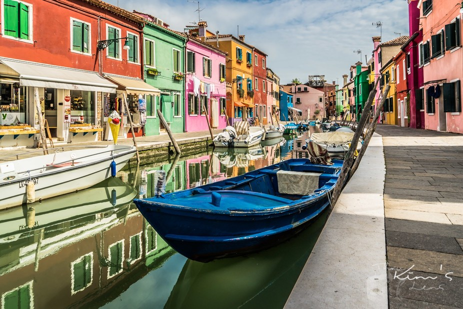 Colourful Burano Canal