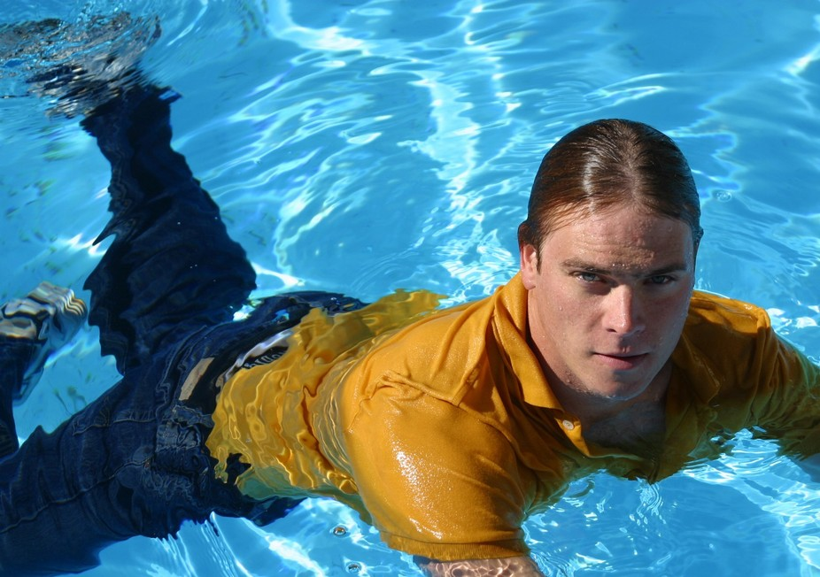 Hanging out in the pool in 2005