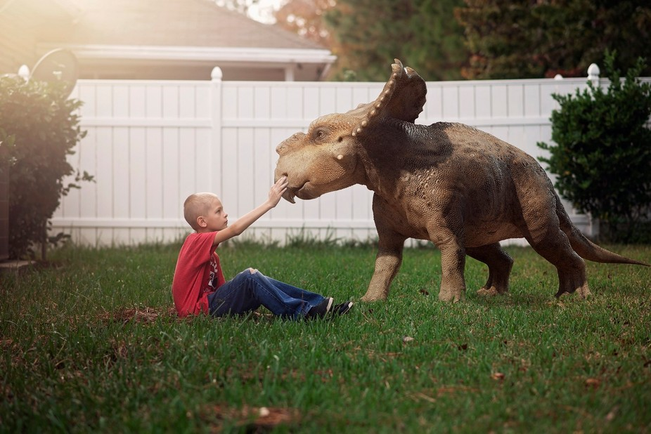 """My son is super into dinosaurs right now and he has been asking lately for me to """"give&a..."""