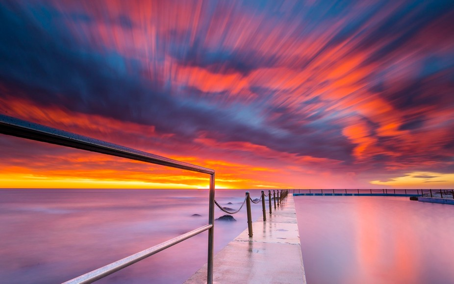 A golden hour over at South Curl Curl's rockpool provided a long exposure light show cap...