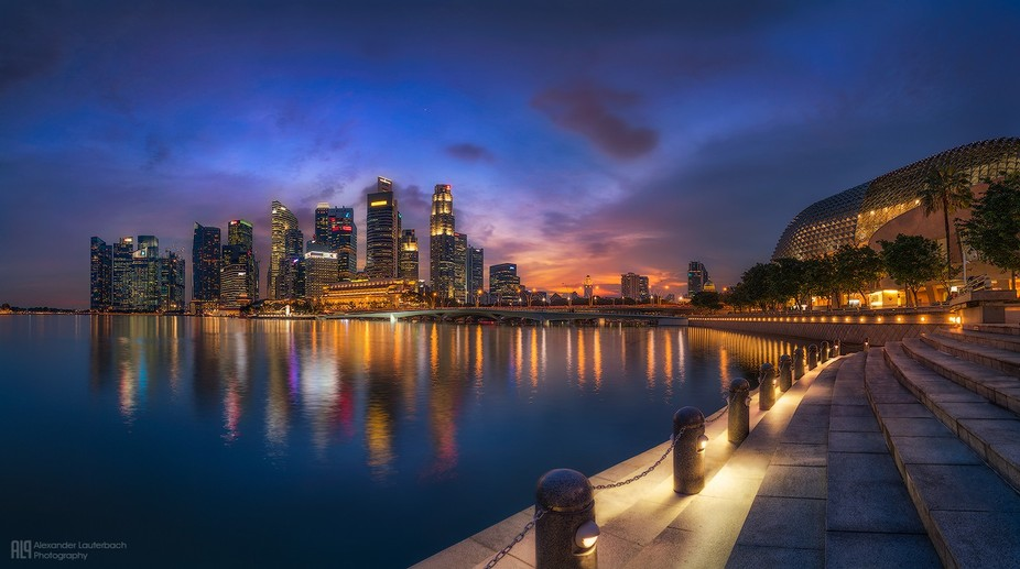 Blue hour in Singapore.