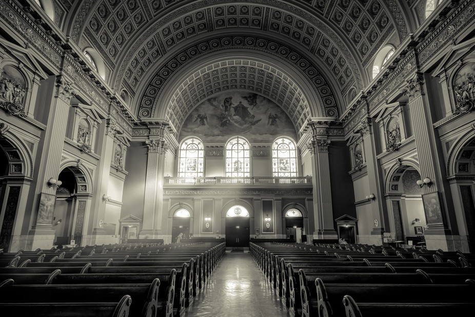 "This is an interior shot of the ""Our Lady of Sorrows"" Church in Chicago"
