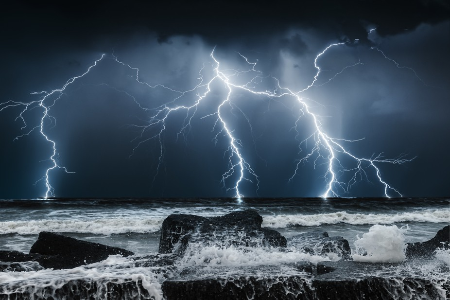 Thunderstorm on the Black Sea
