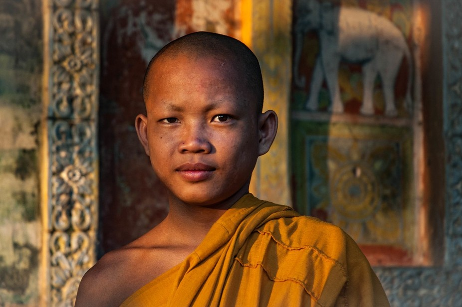 young cambodian monk