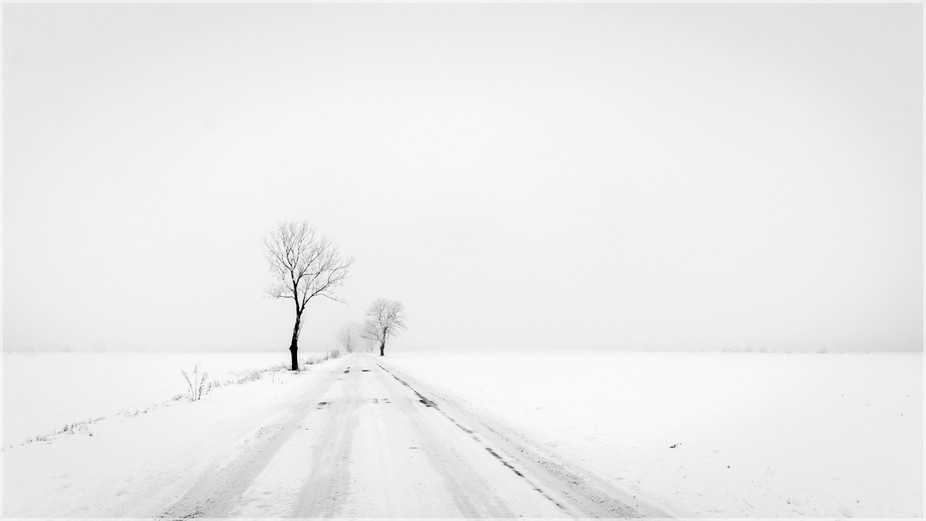 Somewhere on the winter roads in Poland - I
