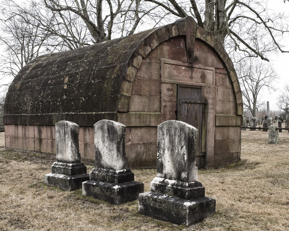 A cemetery in Somers Connecticut.