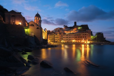 First lights in Vernazza