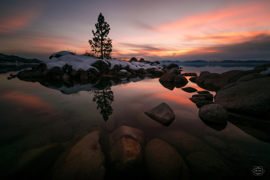 Winter vibes on the Nevada side of Lake Tahoe