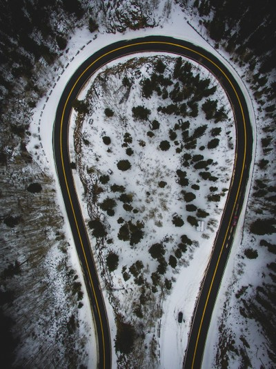 Mount Evans Road From Above