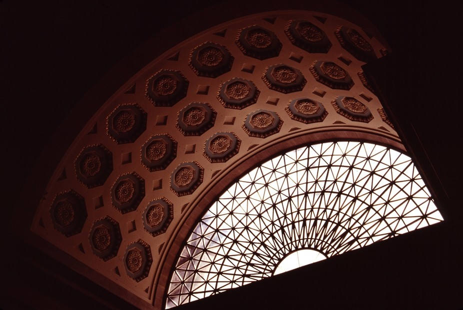 The east vaulted window at the Missouri State Capitol building, Jefferson City, Missouri, USA, 14...