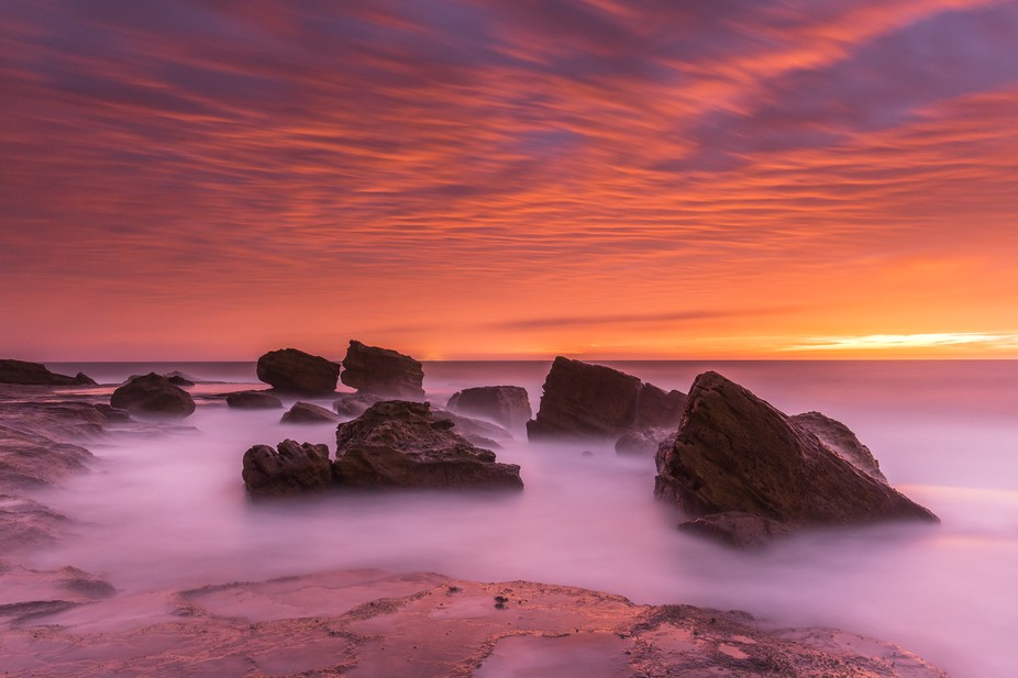 I wasn't supposed to head to this rock shelf between Mona Vale and Bungan. In fact, my p...