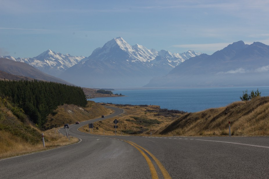 On the way to Mount Cook National Park